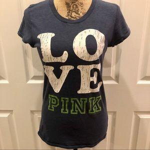 Pink Victoria's Secret size medium t-shirt.
